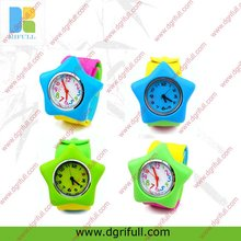 Colourful Star shape silicone slap watch