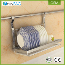 EasyPAG Silver Stainless Steel hanging dish drainer with wall
