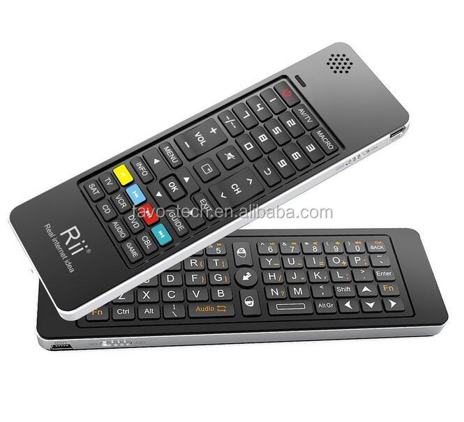 Multi-media Portable Handheld Android Box Keyboard for PC Laptop IR Learning Remote Control Speaker and Microphone