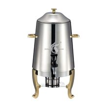High Quality 13L Golden Plated Stainless Steel Coffee Dispenser with Fuel Warming