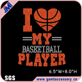 Bling I love my Basketball Player rhinestone transfer design wholesale
