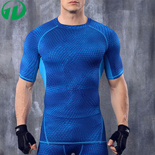 2016 Top Quality men's multicolour tight elasticity basketball training compression t shirt