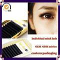Milkyway high quality all size J B C D curl handmade thick 100% real mink individual eyelash extensions,mink lash extensions