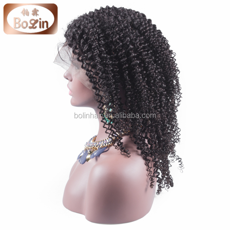 "Cheap Hot Sale 16"" Short African American Kinky Curly Full Lace Wigs Natural Hair Wig For Black Woman Brazilian Human Hair Wig"