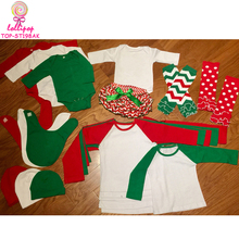 2017 Christmas baby gift set shirts+rompers+hats+bibs+leg warmers+bloomers cute baby girl set clothes