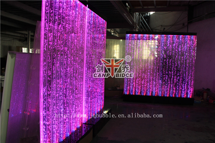 nightclub interior design led bubble water feature wall background decor