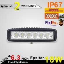 Black/White 18W LED DRIVING LIGHT for road vehicle atvs trucks
