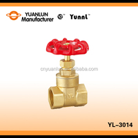 Manufacturer Best Thread Standard YL-3014 Brass 3/4'' Gate 20 DN Water Valve