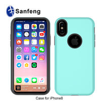 2 in 1 hybrid tpu and PC phone case for iphone 8