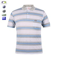 100% cotton heavy weight latest designs for men custom striped polo shirt