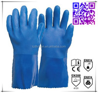 pvc dipped worsted cotton lining ,oil and acid proof working gloves