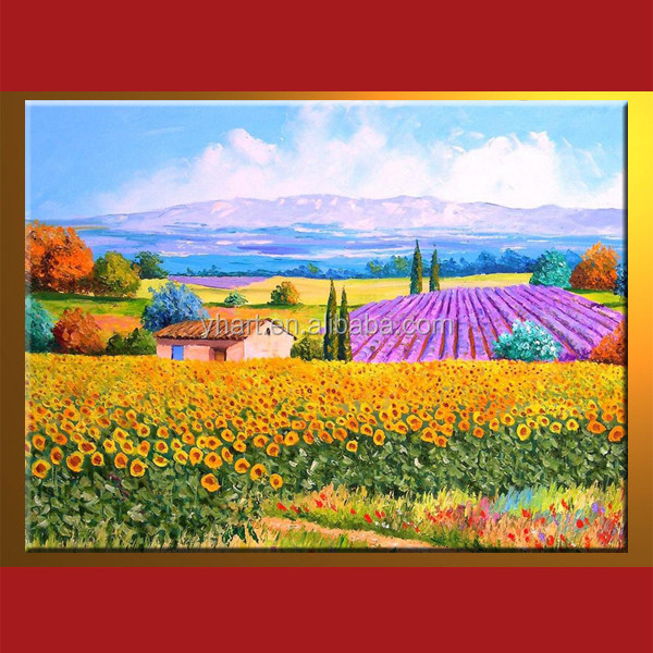 Hot Sell Handmade Spring Scenery Oil Paintings On Canvas