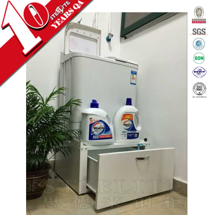 Metal material laundry washing cabinet for washing machine