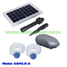 Brushless solar pond oxygenator with two heads (SAP2.5-3)