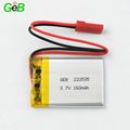 3.7v rechargeable ultrathin lithium polymer battery 222535 160mah lipo polymer batteries for small smart devices