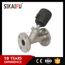 Multifunctional SS304 Pneumatic Angle Seat Valve for Dyeing Machine