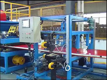 rock wool Sandwich Panel Production Line through rolling for metal panel producing