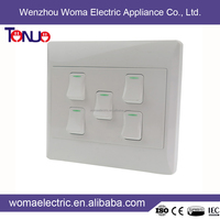China New Wholesale CE/ ISO9001/IEC South Africa Style Wall Light With On Off Switch
