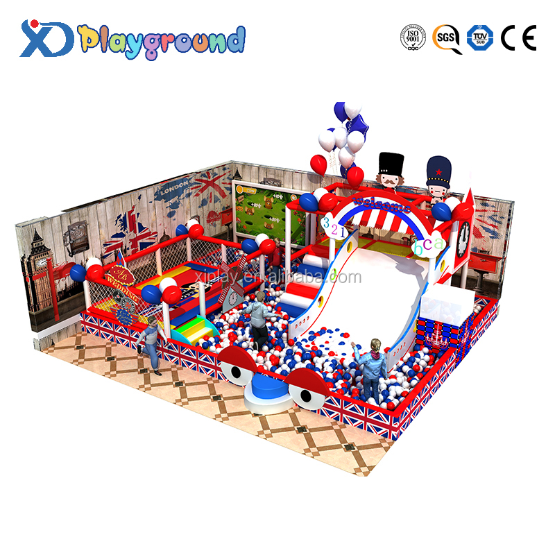 Small-size customized England style indoor playground equipment