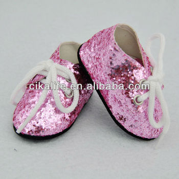 18 in Pink shoes factory american girl doll shoes