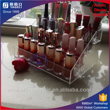 luxury Clear 3 tiers acrylic nail polish display rack Supplier