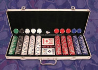 2015 new style aluminum poker set with playing card and dice and dealer,logo print,chips card set