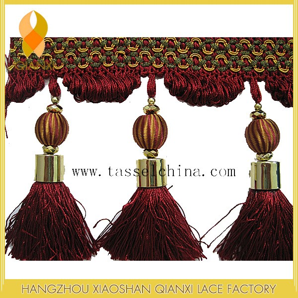 High Quality Home Decoration Curtain Tassel Fringe