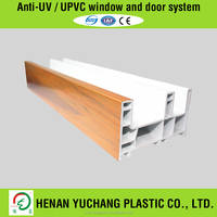 Conch Profile UPVC Plastic Profile With Wood Laminated Cover