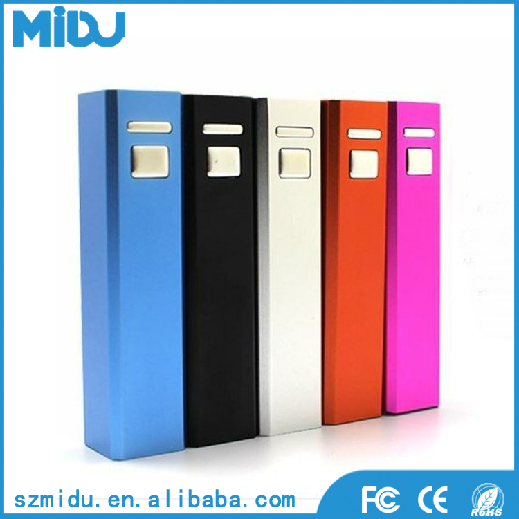 High quality lipstick 2200mAh portable power bank charger for smart phones