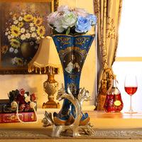 Art decoration vase resin antique luxury home art deco resin vases