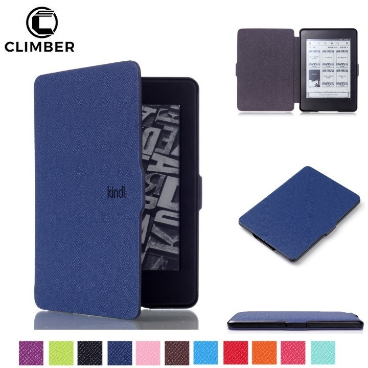 Auto Sleep Wake Function Ultra Slim PU Leather Tablet Cover Case For Amazon Kindle Paperwhite 1 2 3 6Inch Shell Flip Cover Cases