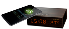 8-in-1 Wood Bluetooth Speaker + Qi Wireless Charger + Alarm Clock + Thermometer