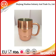 wholesale high quality double wall stainless steel absolut vodka mule copper advertising beer mug