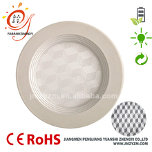 3D diffuser plate 18w round recessed led panel light