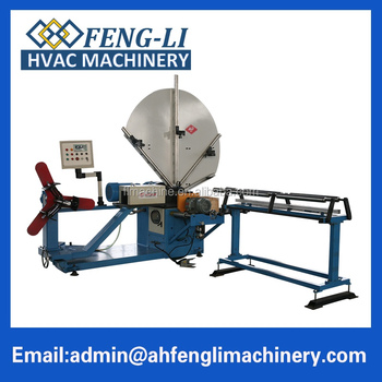 High accuracy galvanized steel pipe spiral duct machine