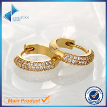 latest model fashion design gold hanging hoop earrings designs for girls