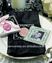 glass coasters with photo inserts for wedding favors gifts