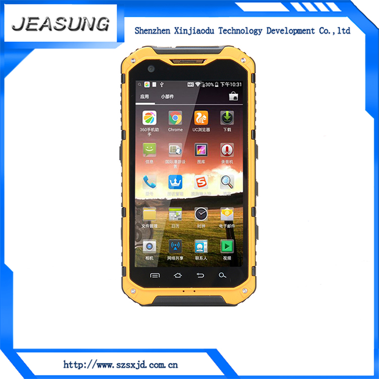 MTK6589T quad core 1.5GHz 4.3 touch screen bar water-resistant rugged handphone made in china
