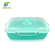 Eco friendly insulated reusable lunch box baby food storage plastic container with air holes