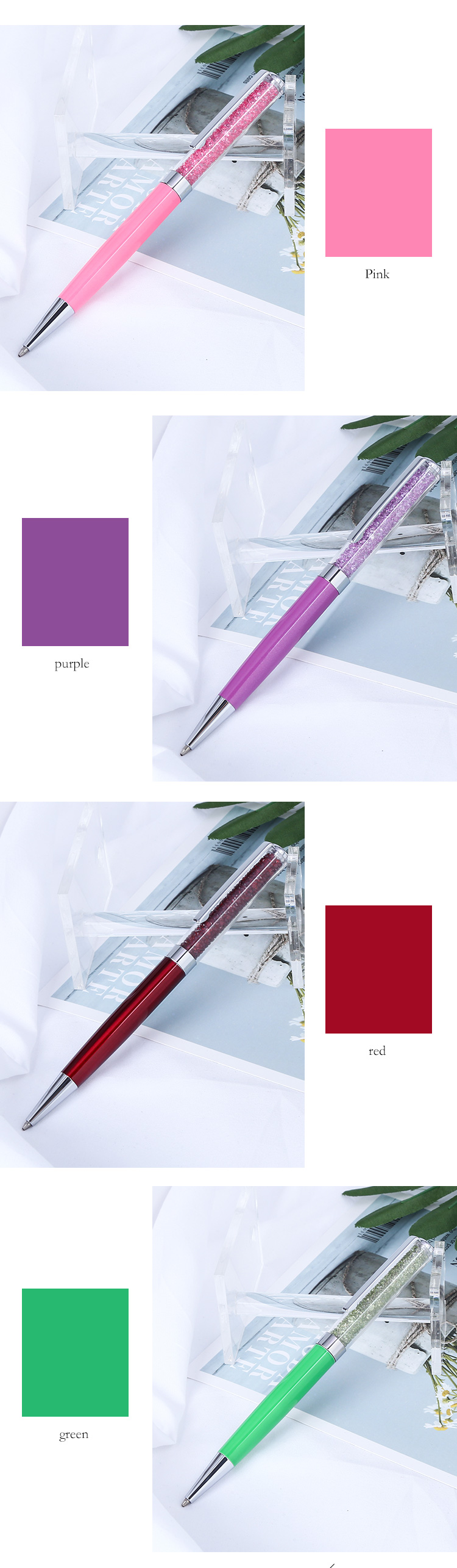 Metal crystal pen 2017 unique best friend birthday gifts beautiful crystal pen