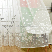 floral sheer curtain lace fabric jacquard curtain