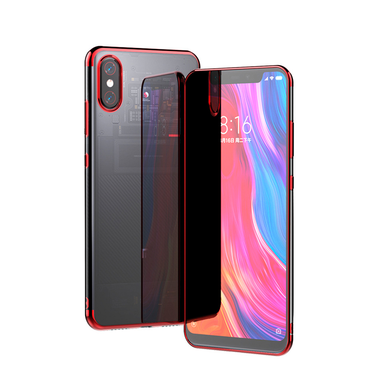 Transparent TPU cover case for xiaomi mi 8 8SE crystal clear case