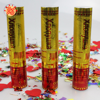 cheering best toy gun confetti five star popper paper