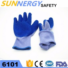 CE approval working gloves importers in usa with blue Latex