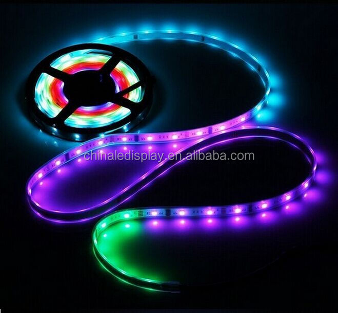 High brightness programmable animation effect 5V 5050 dream color led strip with 2812IC built inside