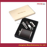 lighter,key chain, knife,hip flask gift set for business 2015 new products gift item