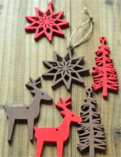 Wooden Reindeer Christmas Decorations Rustic Hanging craft