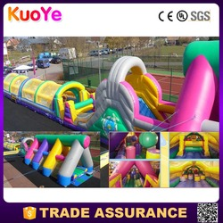kids challenge inflatable obstacle course giant inflatable obstacle with slide inflatable amusement trampoline park