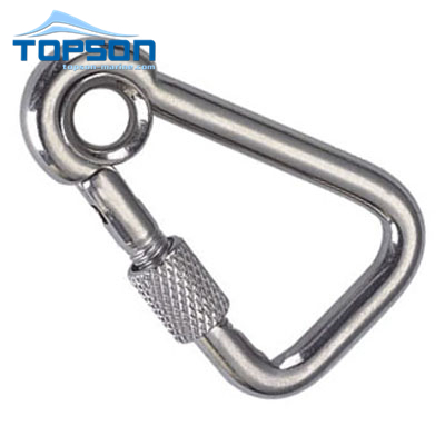 High quality rigging hardware Stainless steel spring hook with eyelet and screw