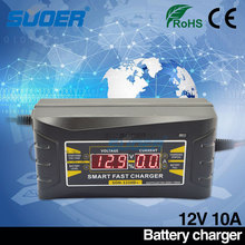 Suoer 2016 New design automatic 12V 10A lead-acid smart fast battery charger